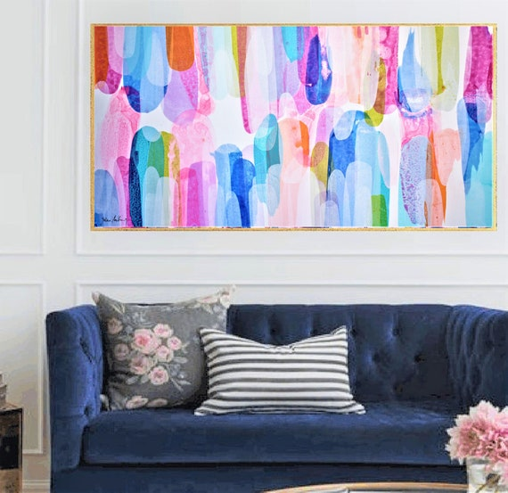 colorful    abstract painting   nice oil painting by Jolina Anthony