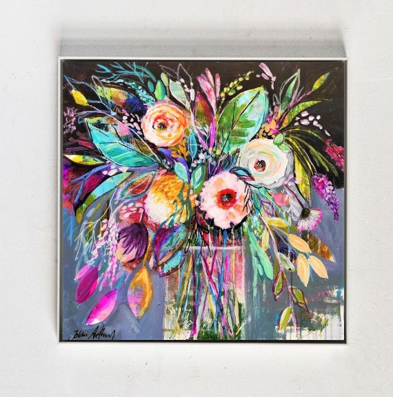 framed Flower  abstract Art nice  abstract painting, by Jolina Anthony
