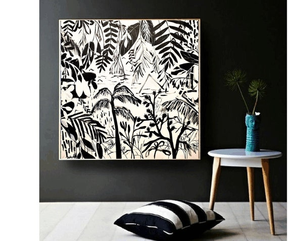 black tropic   abstract painting,, oil painting ,, large abstract painting,  Acrylic painting  ,original painting