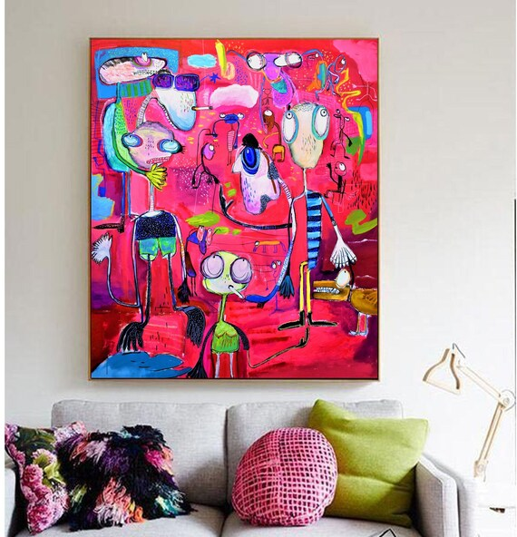 the chaos  abstract painting by Jolina Anthony