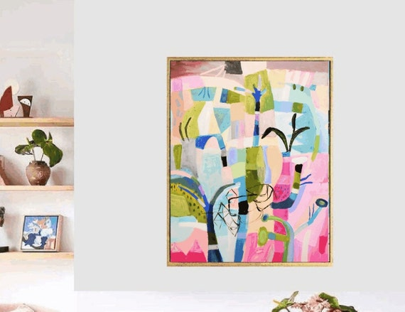 colorful Garden  abstract painting,, oil painting ,, large abstract painting,  Acrylic painting  ,original painting