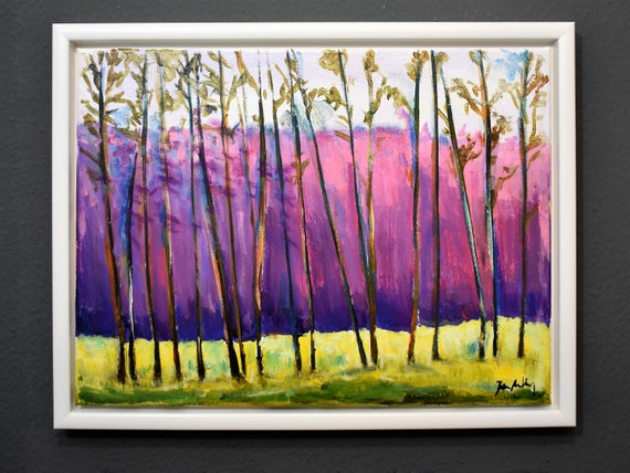 framed Landscape    abstract  painting colorful abstract art by   from jolina anthony
