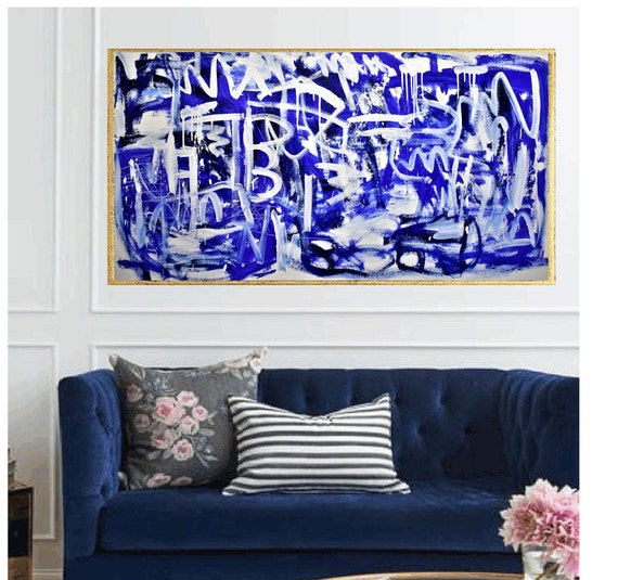"60""x30""jolina anthony nice wall art and   abstract painting wunderful original painting by Jolina Anthony"