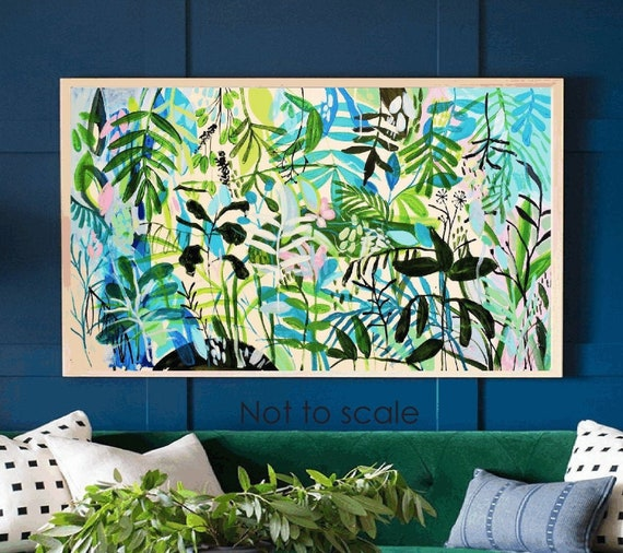 tropic garden   abstract painting  artist jolina
