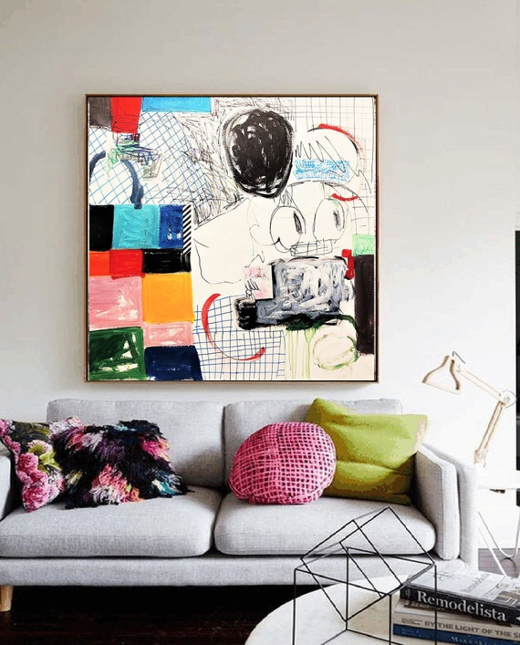 "40""x40""abstract Art nice   abstract painting,  by Jolina Anthony"