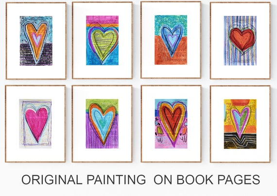 book pages abstract painting  colorful   nice abstract art  by jolina anthony