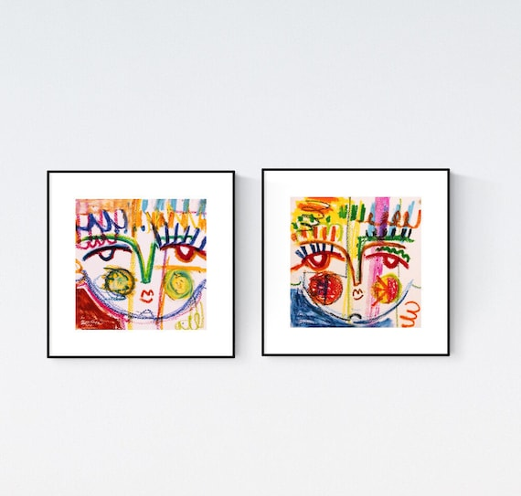 set of 2  abstract painting,by Jolina Anthony