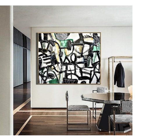 """50""""x40""""colorful abstract Art white abstract  painting, Acrylic painting, large abstract painting"""