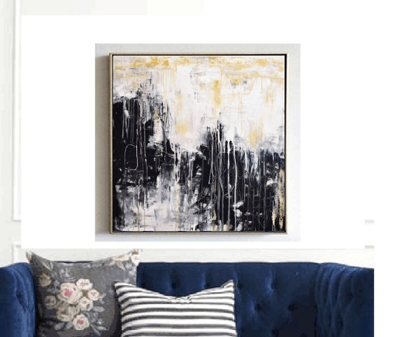 abstract painting  creme  large abstract painting    jolina anthony