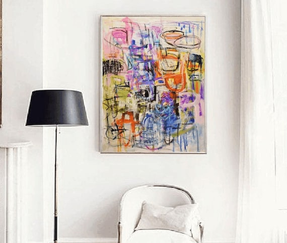 """painting 36"""" wall art canvas   Painting,-large abstract painting - abstract painting on canvas"""