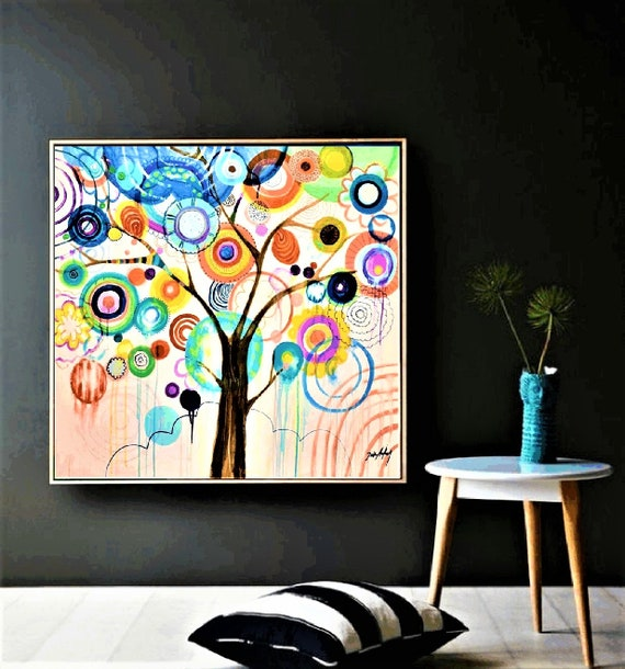 colorful tree    abstract painting by Jolina Anthony