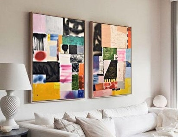 abstract Art nice   abstract painting, colorfol original painting   by Matthew Anthony