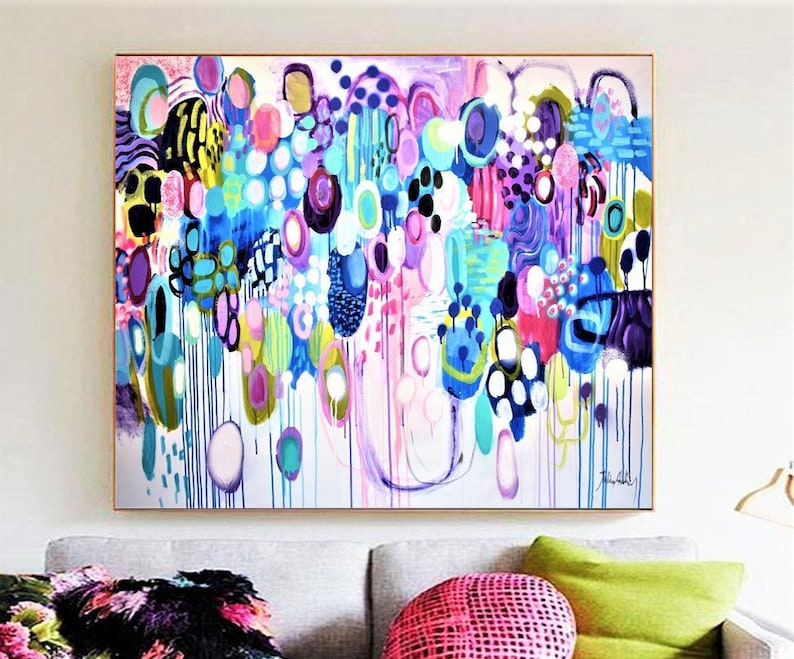 colorful    abstract painting nice original painting white image 0