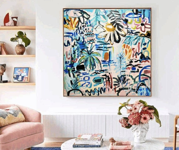 a garden for dreams  abstract painting by Jolina Anthony