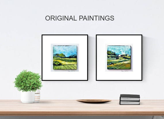 set of 2  abstract painting xx wall art xx original painting nice wall decor xx oil painting xx abstract art