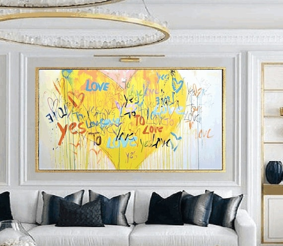 """abstract painting  """"LOVE""""   Gallery Artwork  original painting  by Jolina Anthony"""