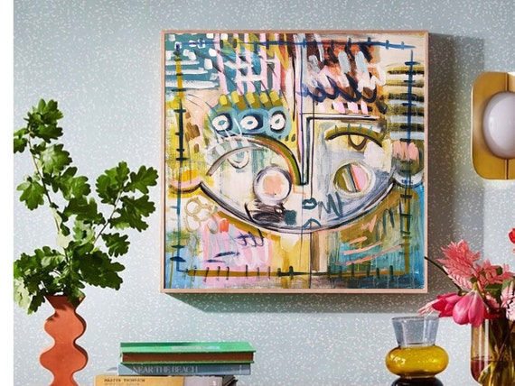 figures   Abstract painting wunderful  original painting nice abstract art  by  Jolina Anthony