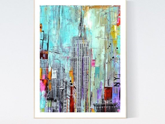 abstract Art new york    abstract painting, Art Print  by Jolina Anthony