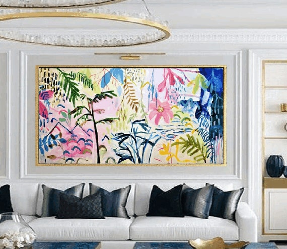 tropic dream   original  landscape abstract painting  artist jolina anthony