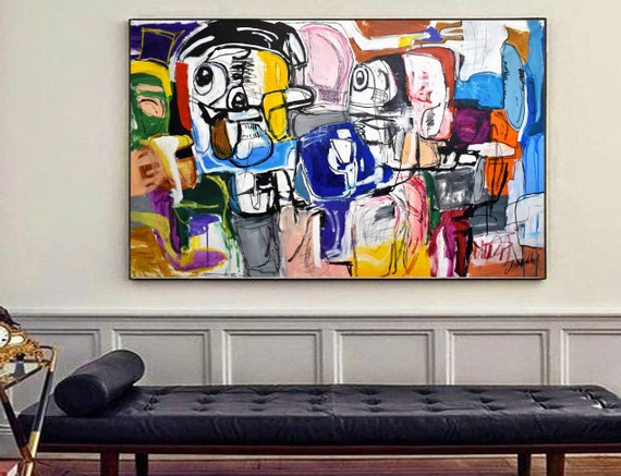 funny day  abstract painting   nice abstract art  by jolina anthony