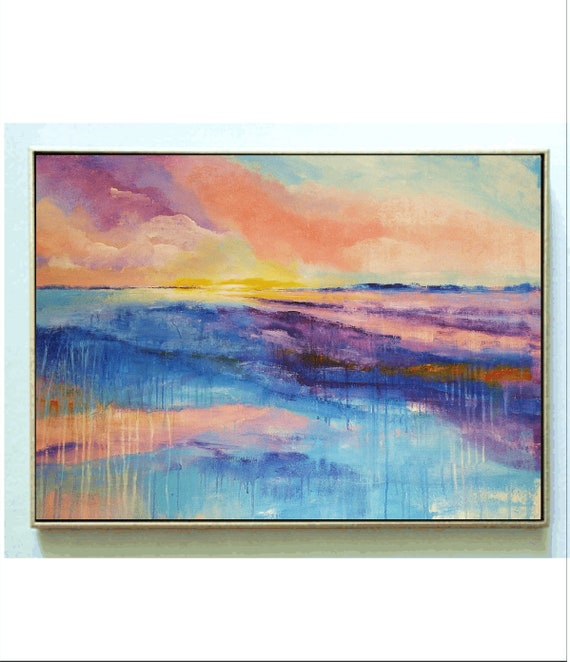 violet  abstract painting, nice  large painting colorful original painting interesting oil painting , jolina anthony abstract art