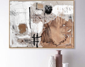 paint with coffee mid century oilpainting    abstract painting by jolina anthony wall decornice   oil painting