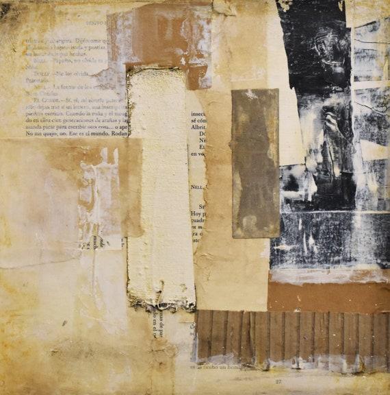 mixed  abstrakten Malerei  brown original painting von Jolina Anthony