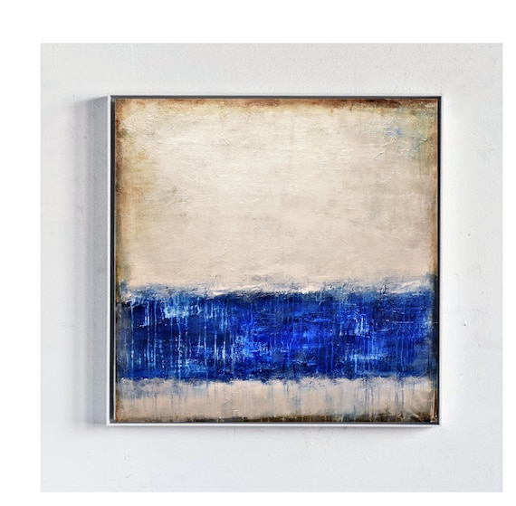blue creme   abstract painting   textured  original painting,by   Jolina Anthony