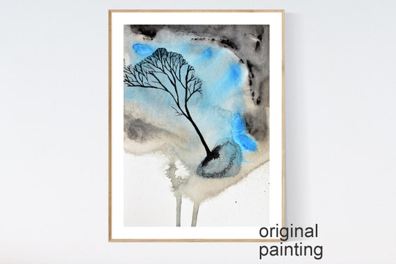 tree water color  abstract painting colorful abstract art :) modern art and original painting