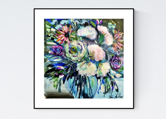 flowers abstract Painting nice  original painting   jolina anthony