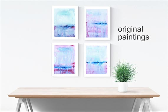 set of 4  abstract painting xx wall art xx original painting nice wall decor xx oil painting xx abstract art