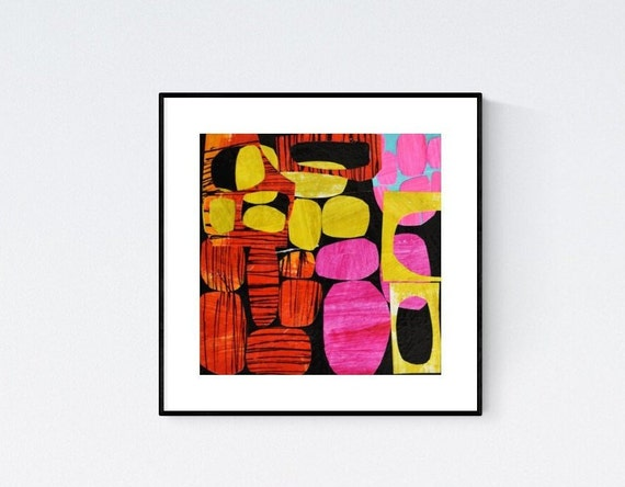 colorful  abstract painting, nice  large painting colorful original painting interesting oil painting , jolina anthony abstract art
