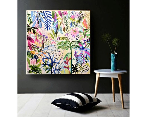 tropical  abstract painting, by Jolina Anthony