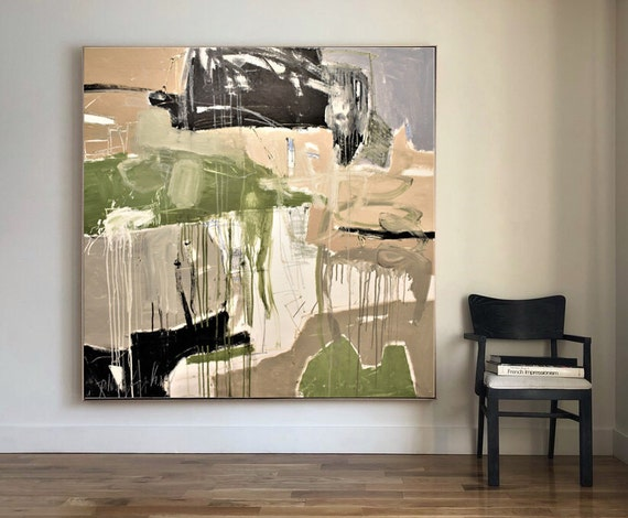 "46""x46"" original large  abstract painting by Jolina Anthony"