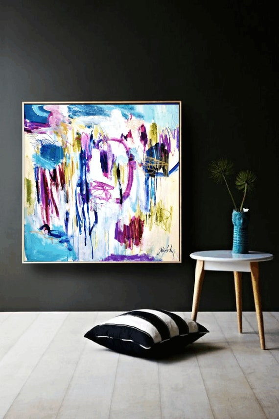 colorful  original   abstract painting by jolina anthony oil painting