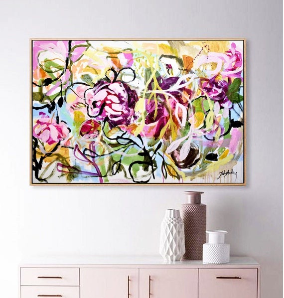 flower   abstract  painting,nice abstract art   by   Jolina Anthony