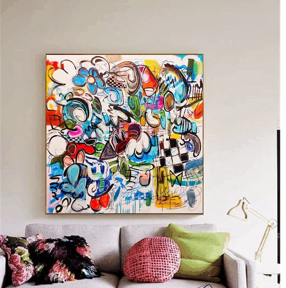 colorful abstract  painting  , nice painting  by  Jolina Anthony