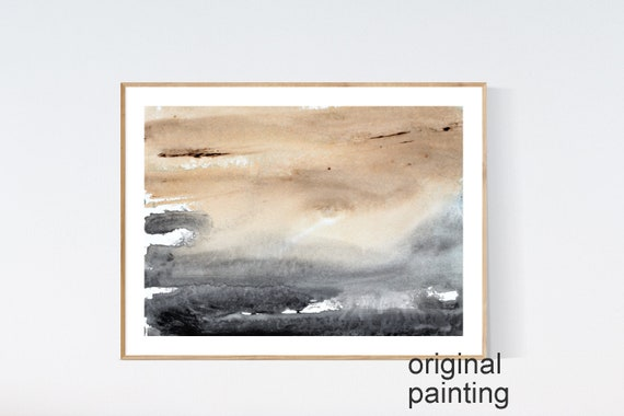 brown, grey work on paper      abstract painting by jolina anthony oil painting