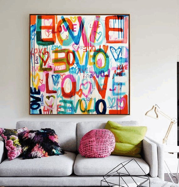 LOVE LOVE  abstract painting,, oil painting ,, large abstract painting,  Acrylic painting  ,original painting