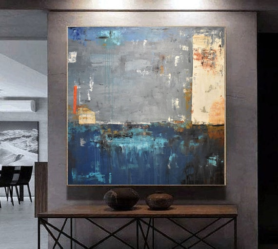 "46""x46""mixed colors  extra large wall art Jolina anthony  abstract Painting,"