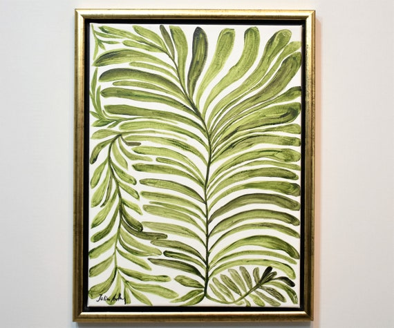 framed Tropic  abstract Art nice  abstract painting, by Jolina Anthony