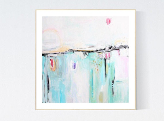 pastel  abstract Art nice  abstract painting, Art Print  by Jolina Anthony