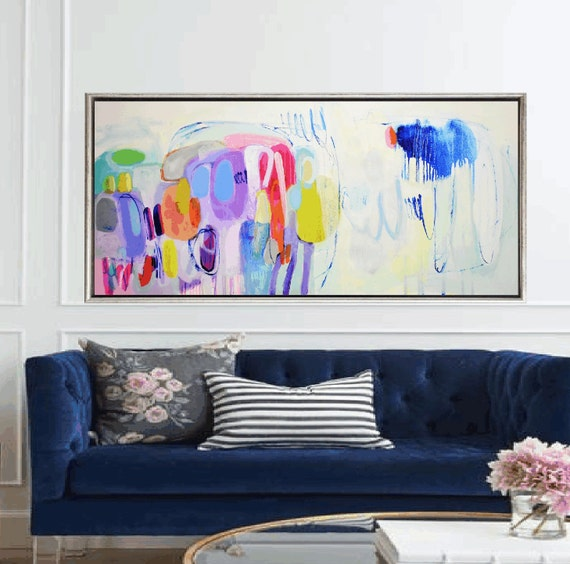 colorful     abstract painting by jolina anthony