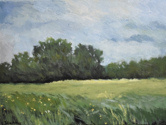 landscape  abstract Painting nice  original painting   jolina anthony