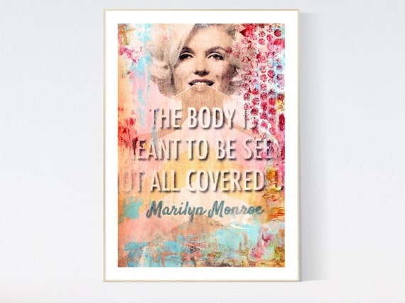 abstract Art Marilyn    abstract painting, Art Print  by Jolina Anthony