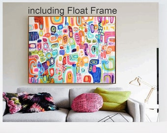 """60"""" abstract painting Painting nice  large original painting, colorful oil painting,by   Jolina Anthony"""