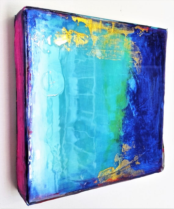colorful  resin   Abstract painting wunderful  original painting nice abstract art  by  Jolina Anthony