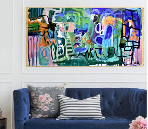 colorful   abstract painting   nice abstract art  by jolina anthony
