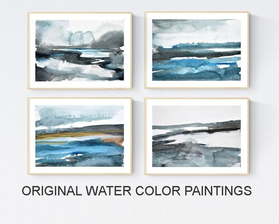 abstract art blue abstract painting nice water color painting    by jolina anthony