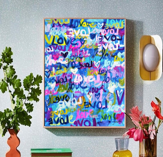 colorful abstract painting  LOVE wall decor  ü  abstract art  nice oil painting jolina anthony oil painting